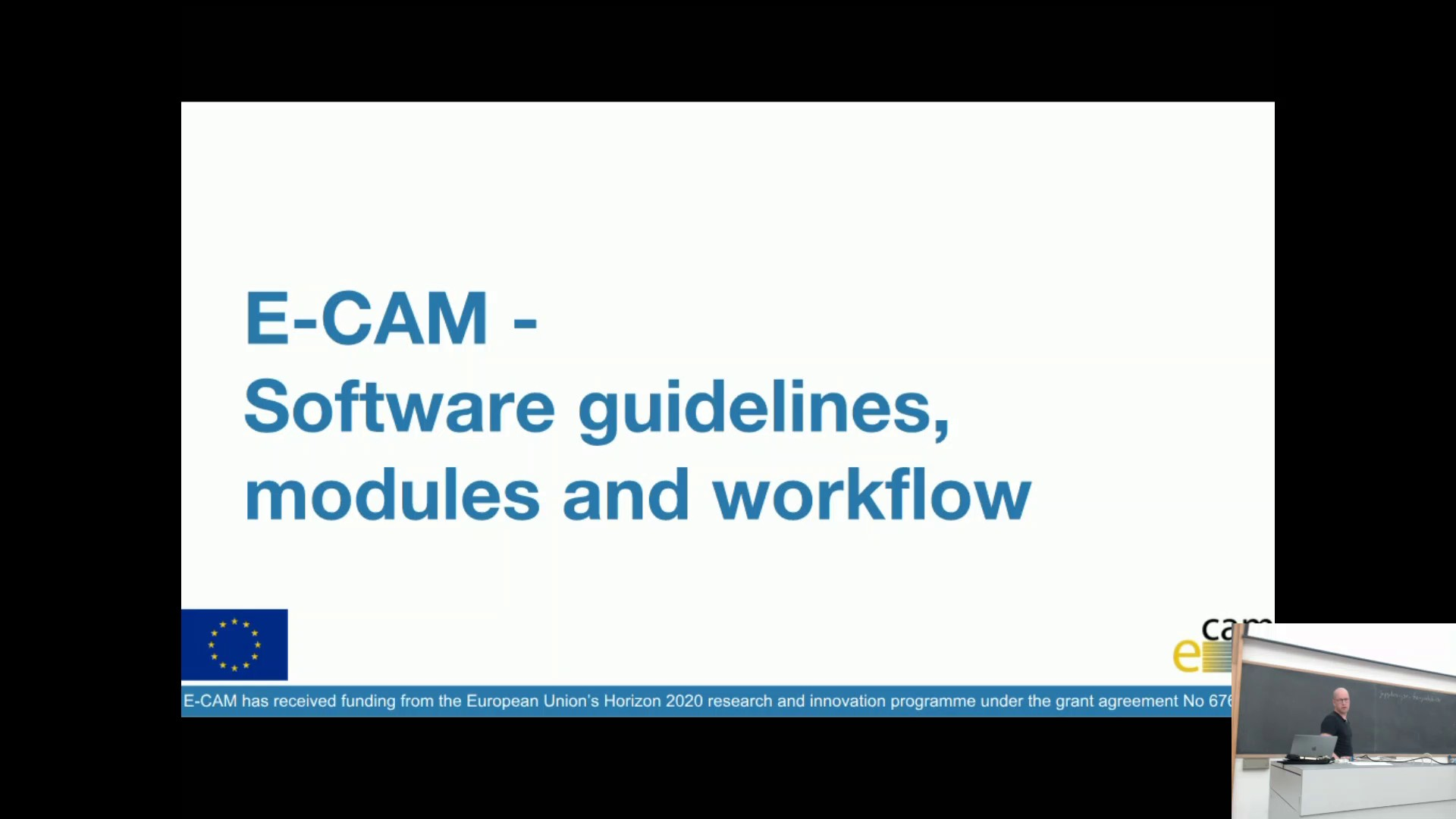 Thumbnail of E-CAM Software Guidelines and Workflow