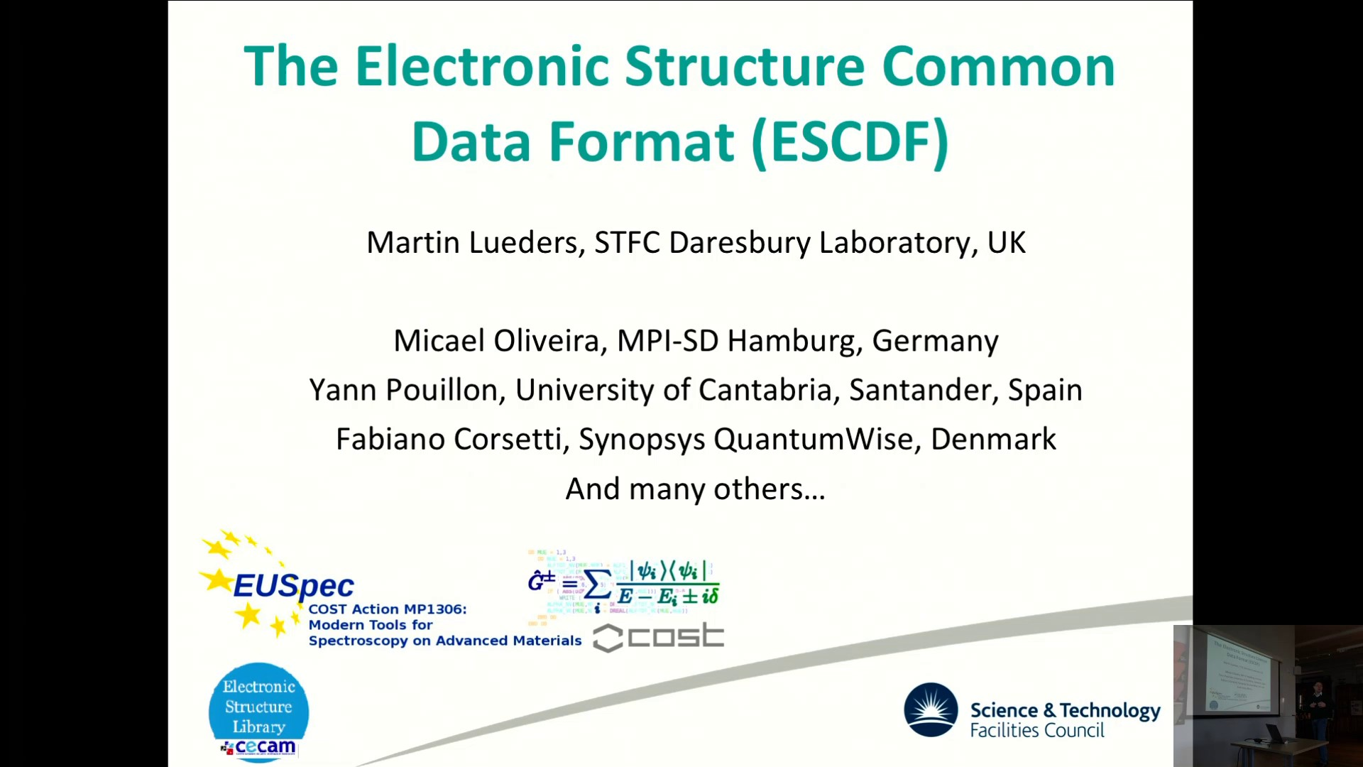 Thumbnail of The Electronic Structure Common Data Format