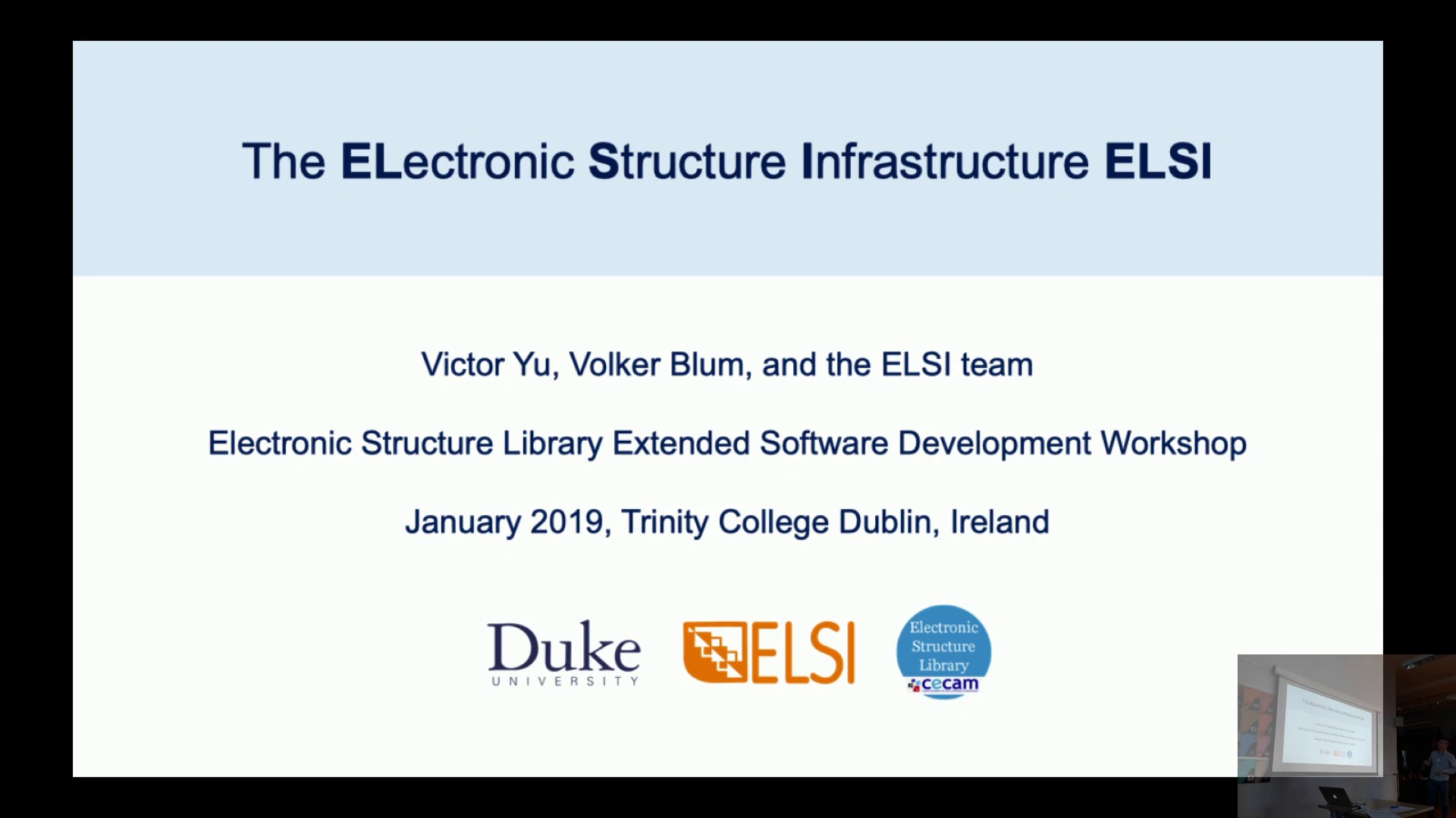 Thumbnail of The Electronic Structure Infrastructure ELSI