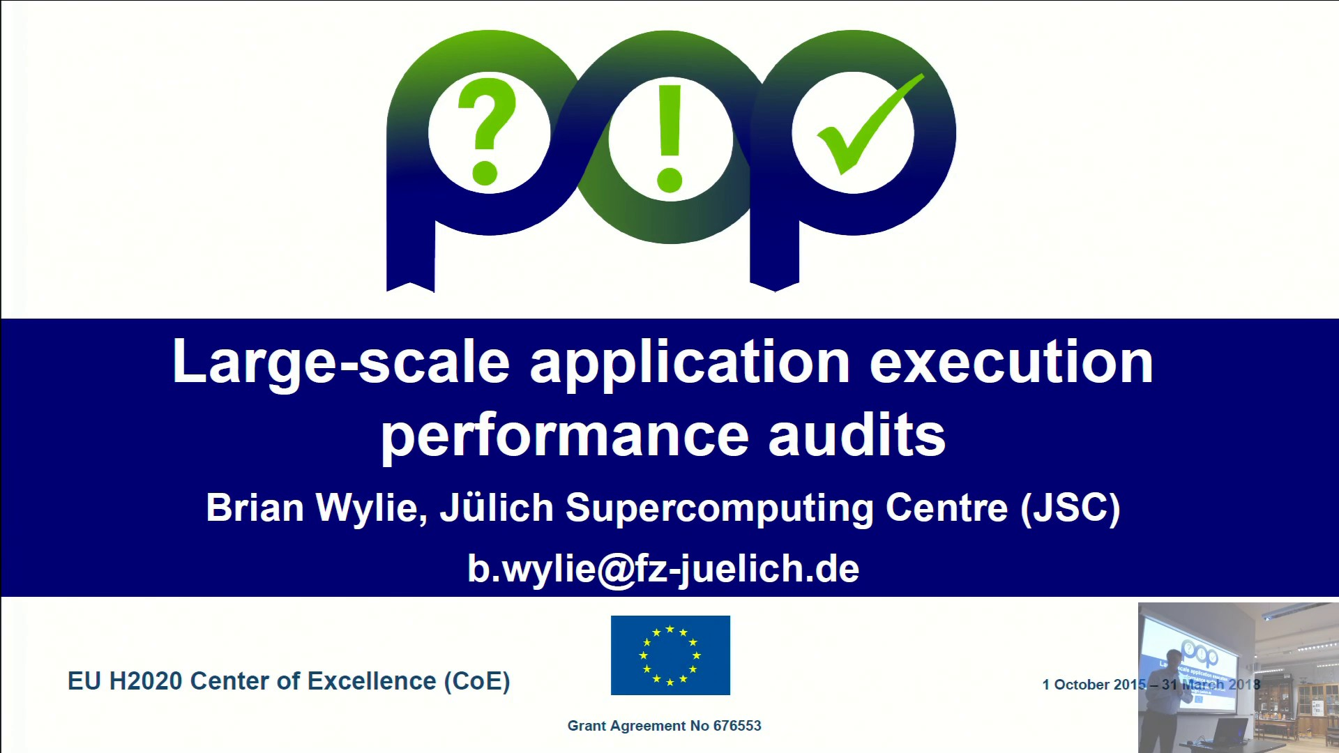 Thumbnail of Large-scale application execution Performance Audits