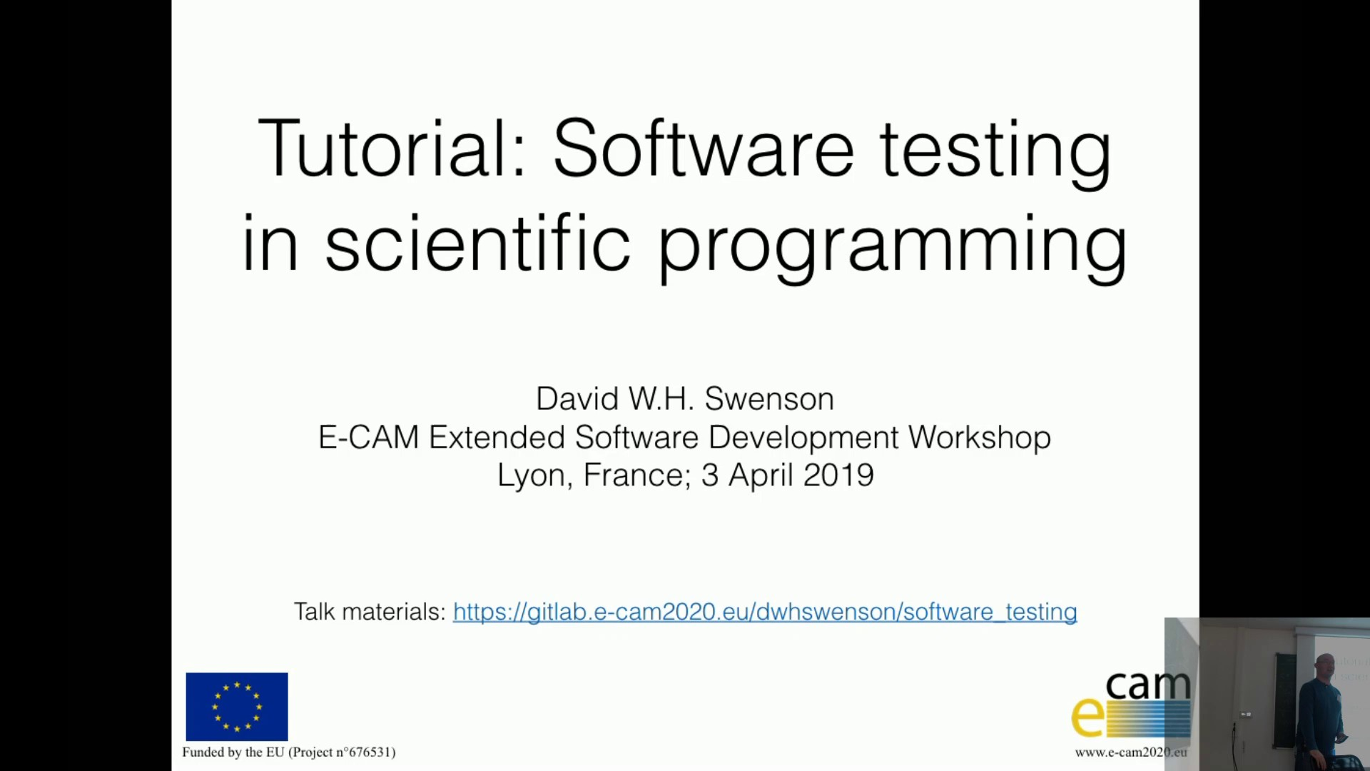 Thumbnail of Software Testing in scientific programming