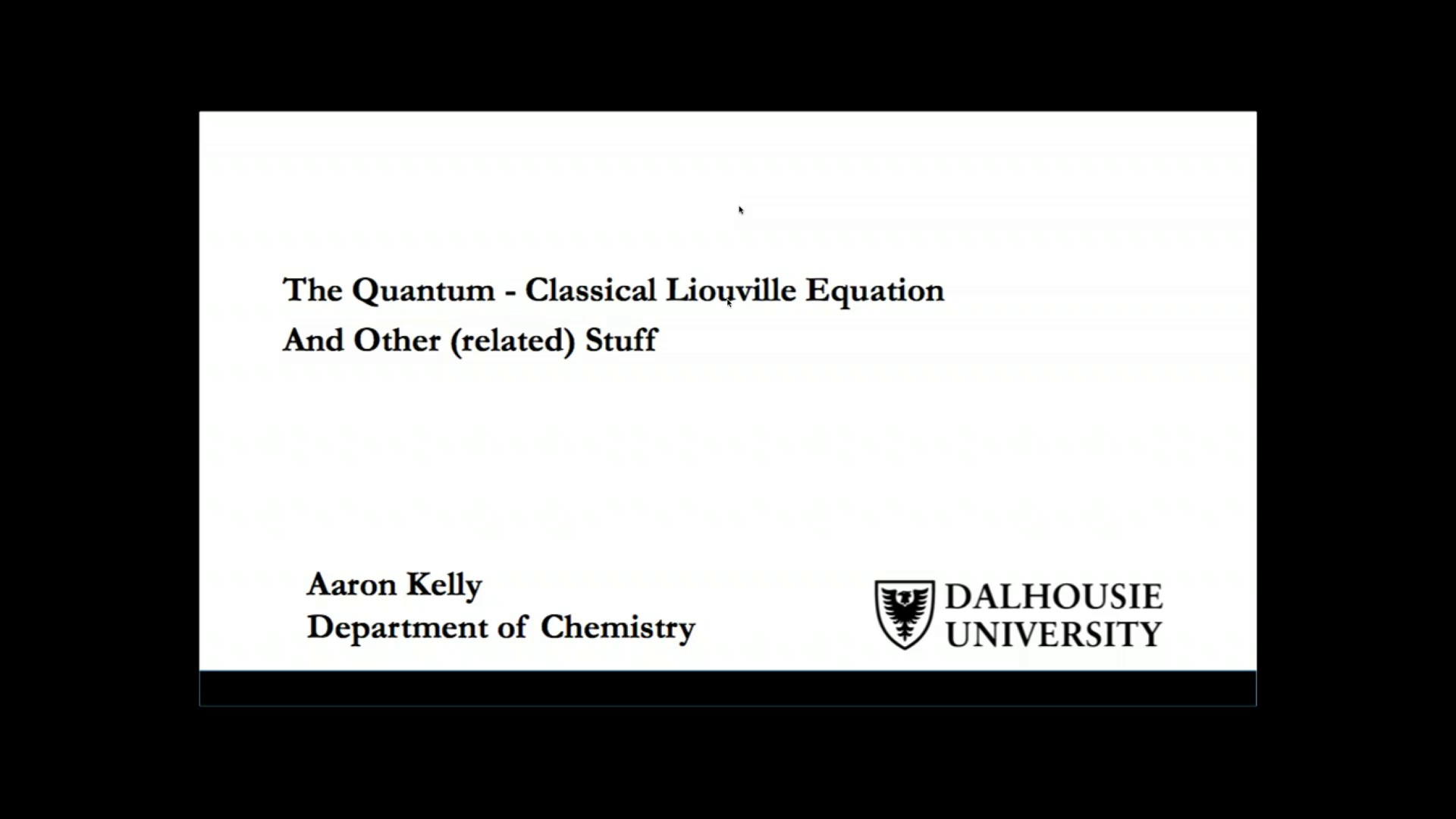 Thumbnail of The Quantum-Classical Liouville Equation