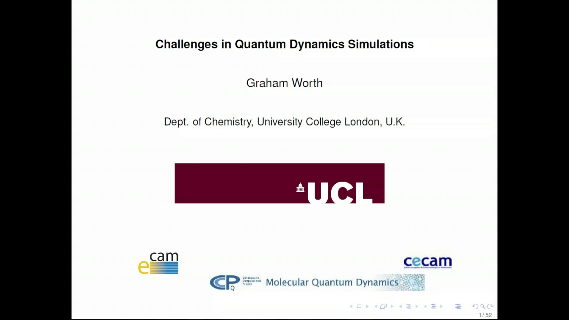 Thumbnail of Challenges in Quantum Dynamics Simulations