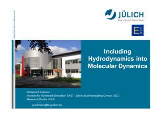 Thumbnail of Including Hydrodynamics into Molecular Dynamics